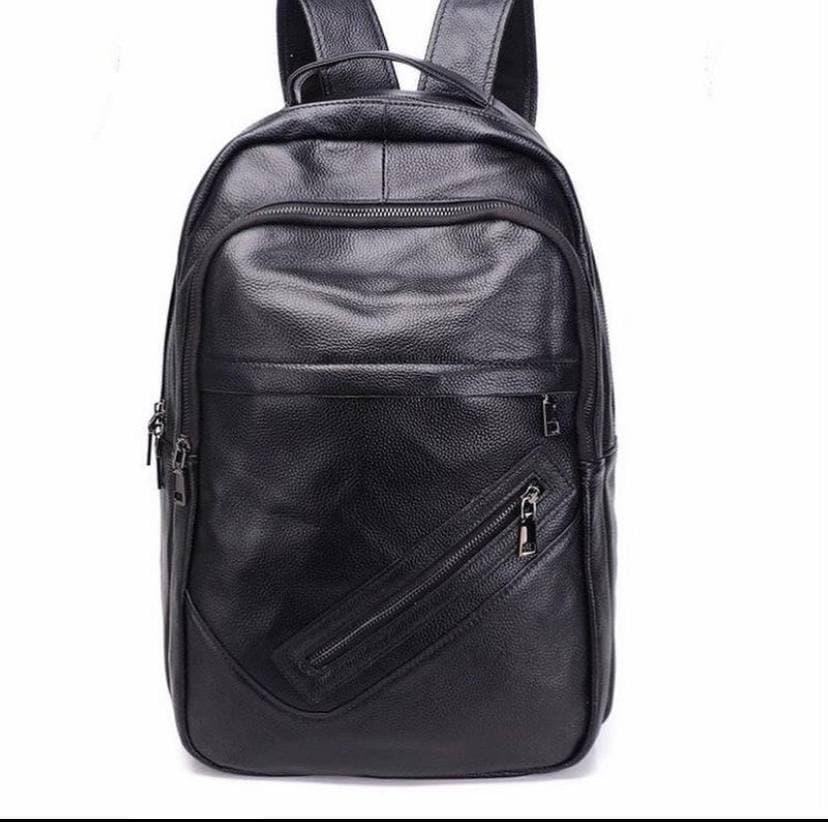 Чорний чоловічий шкіряний рюкзак Tiding Bag NM11-166A