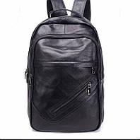 Чорний чоловічий шкіряний рюкзак Tiding Bag NM11-166A, фото 1