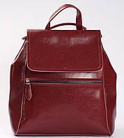 Червоний жіночий рюкзак з натуральної шкіри Tiding Bag - 98398