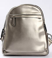 Женский городской рюкзак из натуральной кожи на два отделения Серебро Tiding Bag - 24764, фото 1
