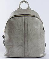 Сірий місткий жіночий рюкзак з натуральної шкіри Tiding Bag - 24545