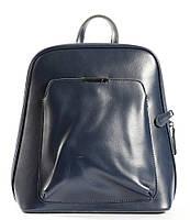 Жіночий шкіряний рюкзак-трансформер в темно-синьому кольорі Tiding Bag - 98966