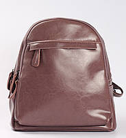 Женский городской рюкзак из натуральной кожи на два отделения Розовый Tiding Bag - 76658