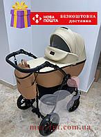 Детская коляска 2 в 1 Classik (Классик) Victoria Gold эко кожа беж