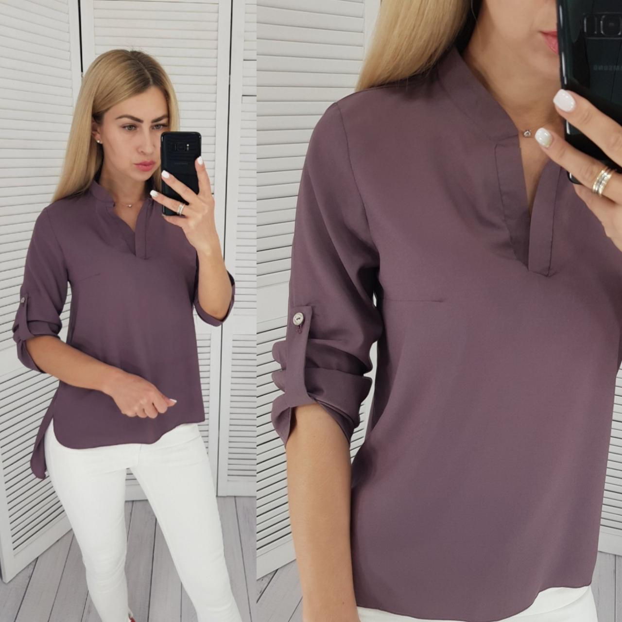 Блузка жіноча, модель 749, Кава / блуза креп-шифон