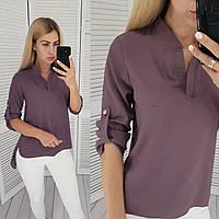 Блузка жіноча, модель 749, Кава / блуза креп-шифон, фото 1