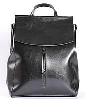 Стильний жіночий рюкзак з натуральної шкіри Чорний Tiding Bag - 25437