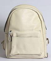 Жіночий бежевий стильний рюкзак з натуральної шкіри Tiding Bag - 43291