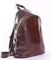 Коричневий місткий жіночий рюкзак з натуральної шкіри Tiding Bag - 24092