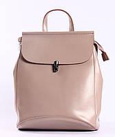 Женский розовый городской рюкзак из натуральной кожи Tiding Bag - 29307