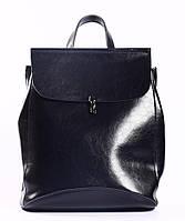 Жіночий темно-синій міський рюкзак з натуральної шкіри Tiding Bag - 94076, фото 1