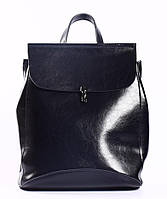 Женский темно-синий городской рюкзак из натуральной кожи Tiding Bag - 94076