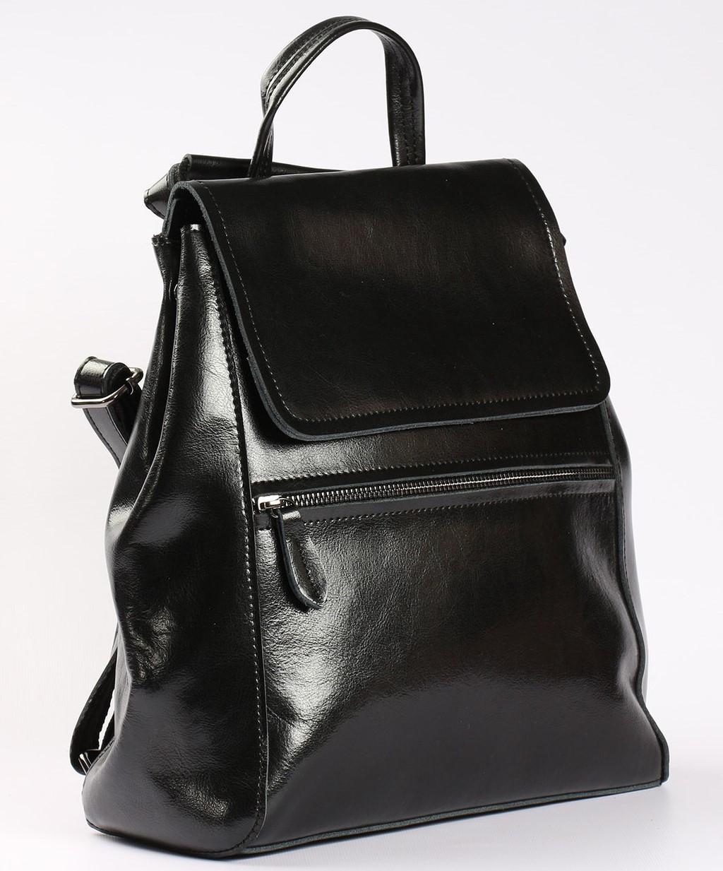 Черный женский рюкзак из натуральной кожи Tiding Bag - 54451