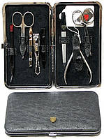 Маникюрный набор 8 предметов Kellermann черный страус 7803
