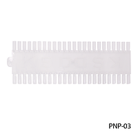 """Палитра плаcтиковая для образцов лака (типса """"рядок"""" 60 шт.), прозрачный"""