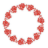 Трафарет 22х33 см Орнамент Троянди круговою