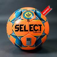 М'яч футзальний SELECT FUTSAL TORNADO FIFA B-gr (без лого FIFA), (011) оранж/синій