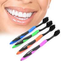 Угольная бамбуковая зубная нано щетка Dental Care Soft Toothbrush Bamboo Charcoal Brush Oral,цена за 4 шт
