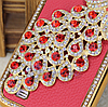Красный Чехол с павлином и камнями Сваровски для Samsung Galaxy S4 i9500
