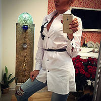 Рубашка-туника женская с поясом