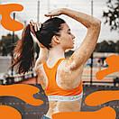 Жіночий комплект Sammy Icon (топ + сліпи) оранжевого кольору, фото 2