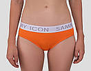 Жіночий комплект Sammy Icon (топ + сліпи) оранжевого кольору, фото 4