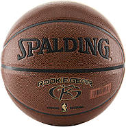 Баскетбольный мяч Спалдинг Spalding Rookie Gear Youth Indoor-Outdoor Basketball Size 5, 27.5 Оригинал, фото 3