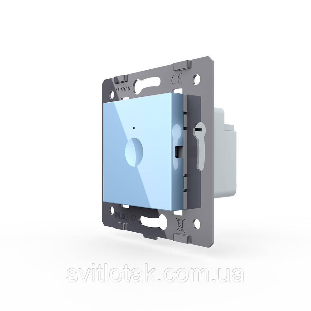 Механизм сенсорный проходной радиоуправляемый выключатель Sense 1 сенсор голубой Livolo (782100319)