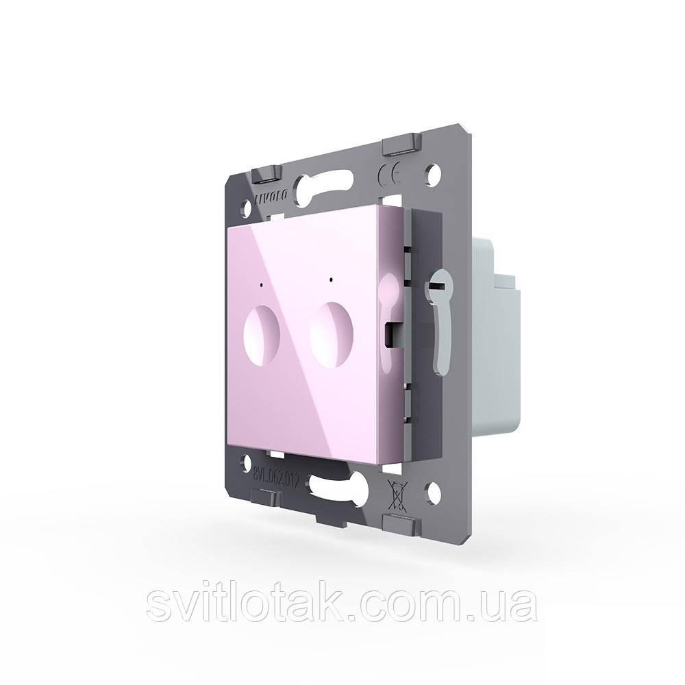 Механізм сенсорний прохідний радіокерований вимикач Sense 2 сенсора рожевий Livolo (782100417)