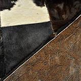 Шикарний килим з шкури чорно білої корови, фото 3