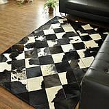 Шикарний килим з шкури чорно білої корови, фото 2