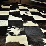Шикарний килим з шкури чорно білої корови, фото 4