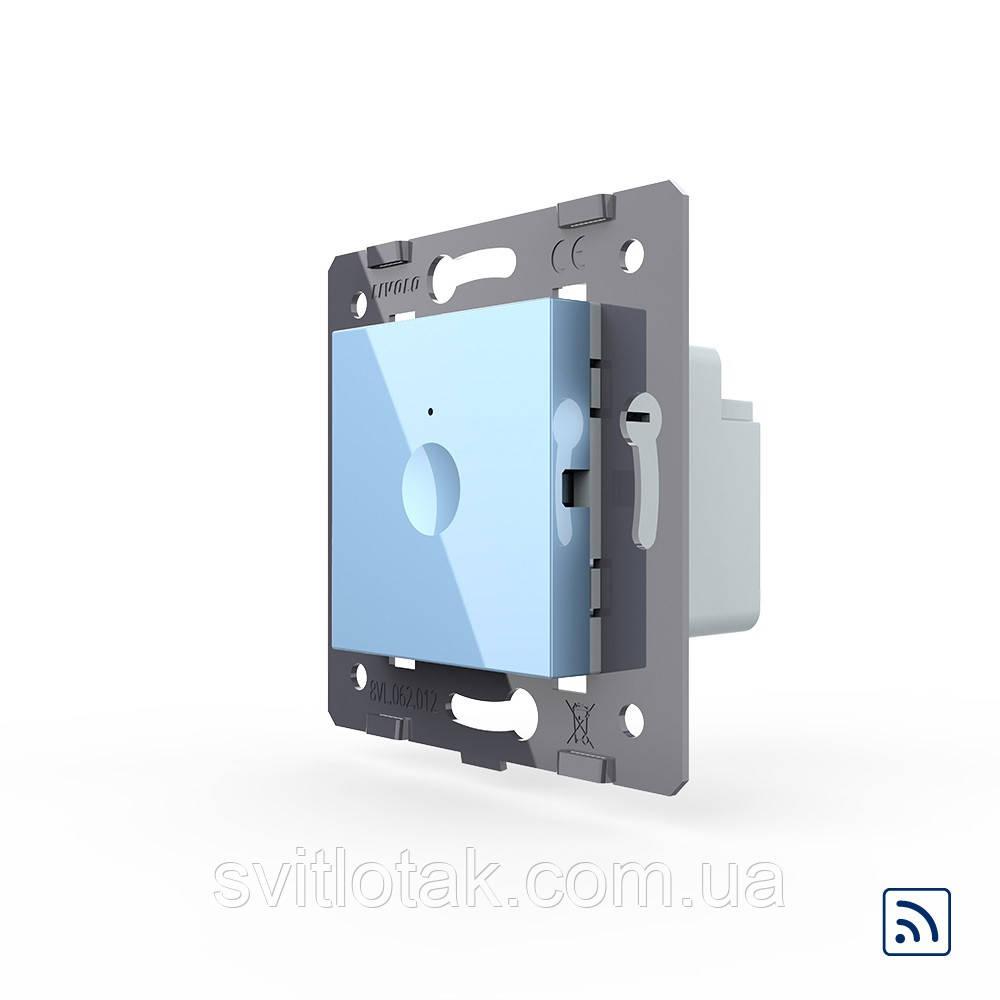 Механизм сенсорный радиоуправляемый выключатель Sense 1 сенсор голубой Livolo (782100119)