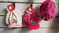 Шапки на хутрі для дівчаток Hello Kitty 52/54 див.