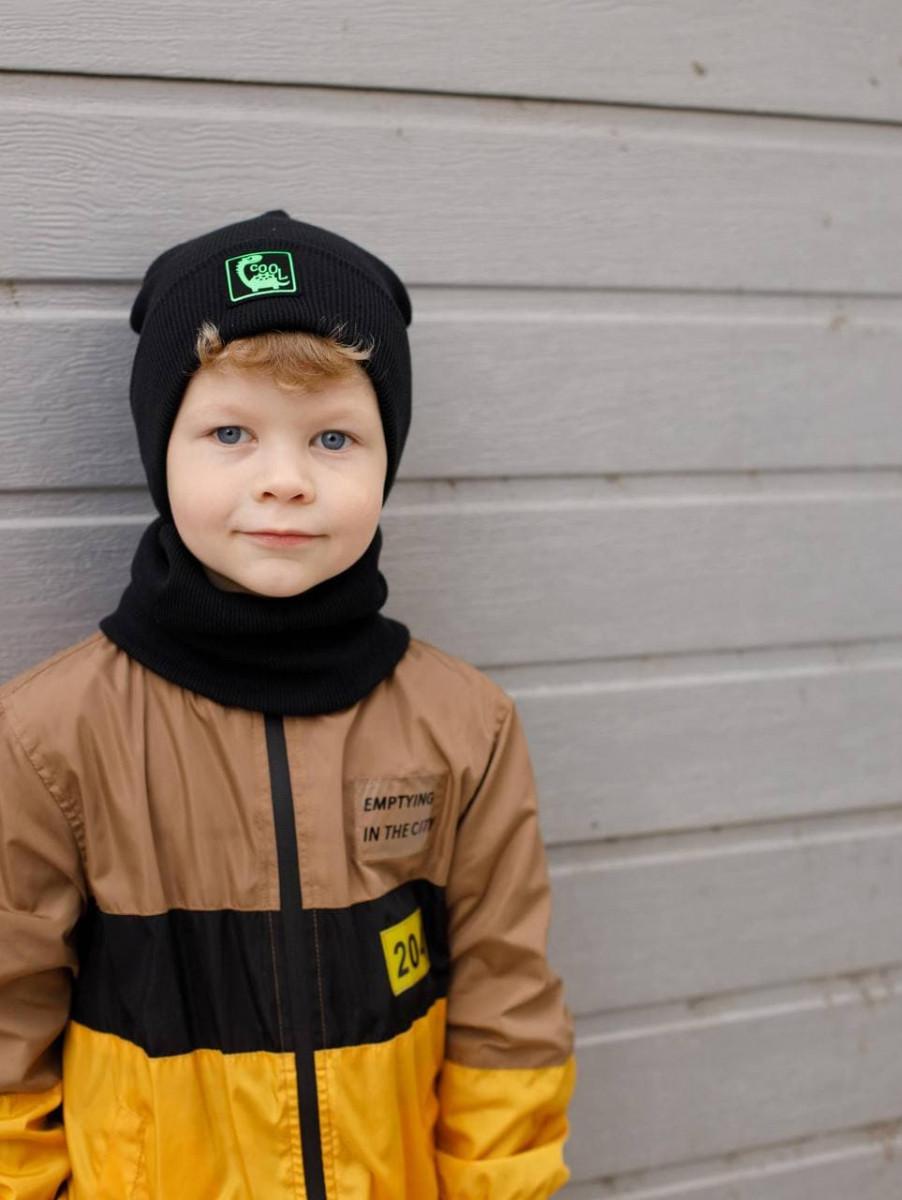 Комплект (шапка хомут) для хлопчика на весну-осінь оптом - Артикул 2882
