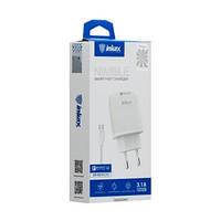 Зарядное устройство 220V INKAX CD-49 + Iph кабель | Зарядка для смартфона