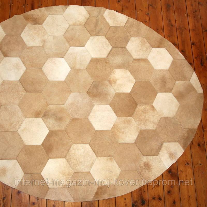 Полукруглые ковры из шестиугольных кусочков телячьей шкуры