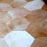 Полукруглые ковры из шестиугольных кусочков телячьей шкуры, фото 2