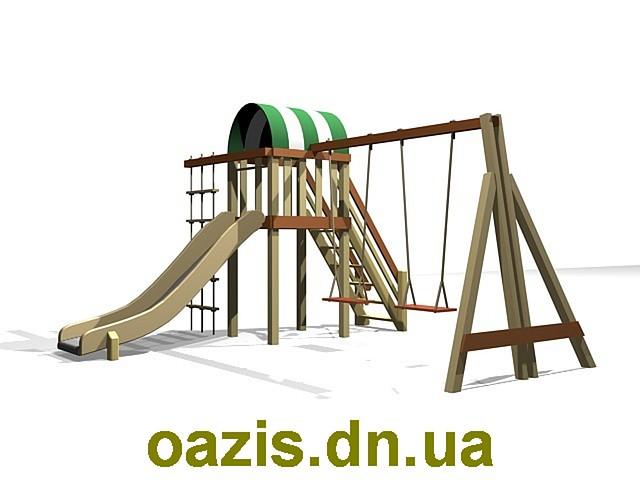 """Дитячий комплекс """"Вежа"""" з гойдалками від """"Стожар"""""""