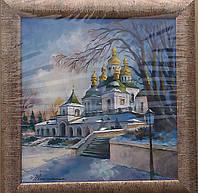 Современный пейзаж масляными красками «Киев. Храм Рождества Богородицы»
