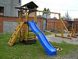 """Детский комплекс """"Вежа"""" с деревянной крышей и качелями от """"Стожар"""", фото 3"""