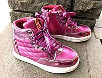 Детские ботиночки на девочку блестящие 30 размер