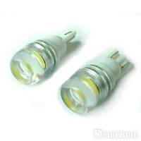 Светодиодная лампа с линзой  t10 12v 1smd