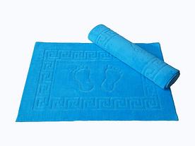 Коврик для ванной Lotus - 45*65 голубой прорезиненный
