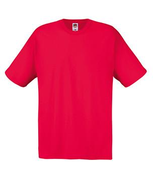 Мужская футболка красная хлопок 082-40