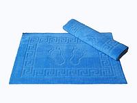 Коврик для ванной Lotus 50*70 махровый прорезиненный синий
