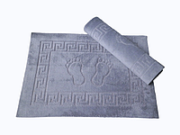 Коврик для ванной Lotus 50*70 махровый прорезиненный серый