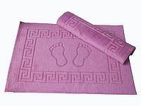 Коврик для ванной Lotus 50*70 махровый прорезиненный темно розовый
