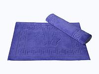 Коврик для ванной Lotus 50*70 махровый прорезиненный фиолетовый
