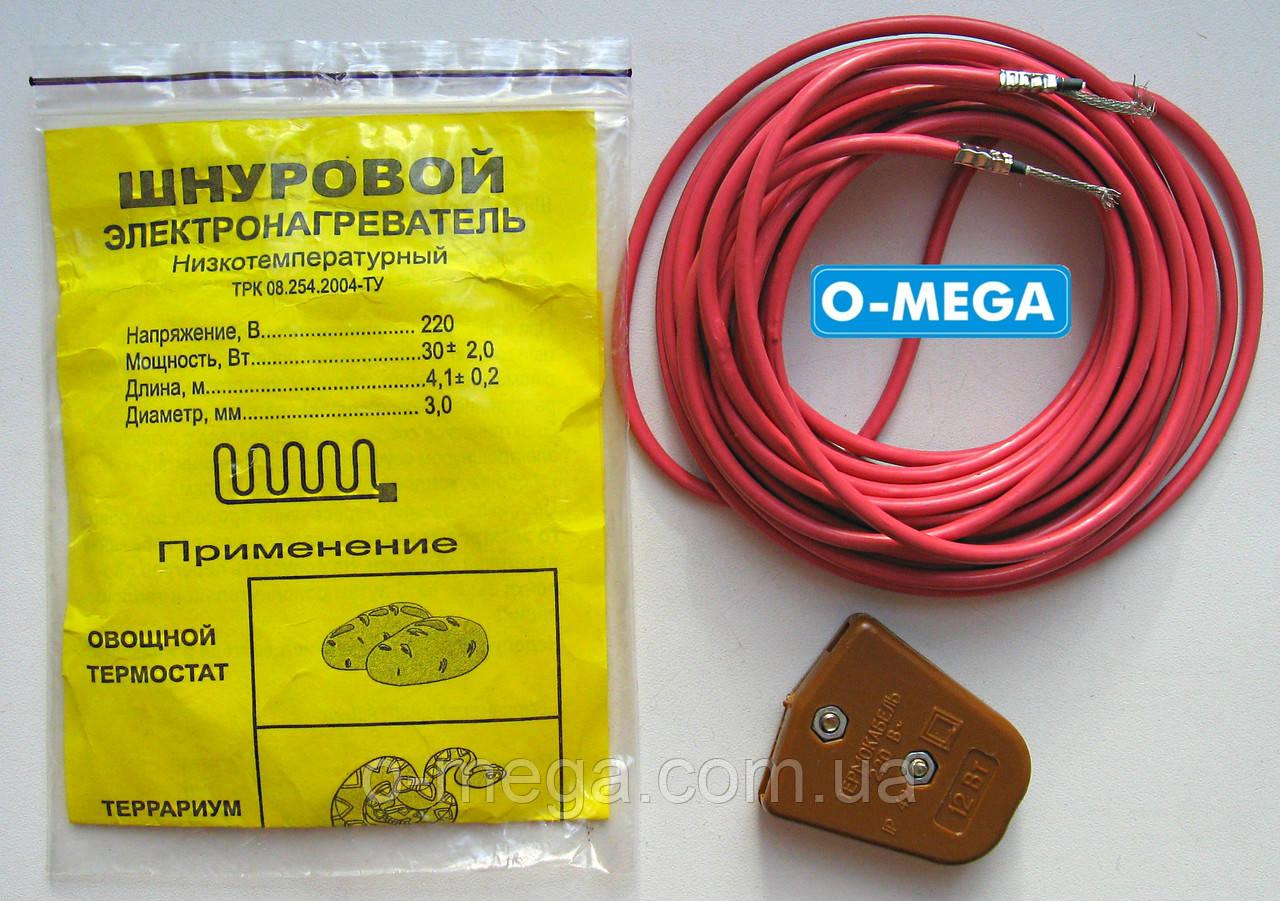 Шнур тепловой электронагревательный для инкубатора 30 Ватт